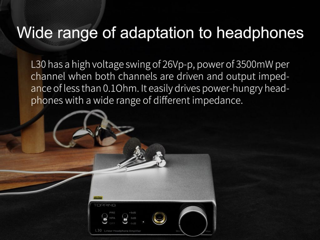 In-ear monitor on top of silver TOPPING L30