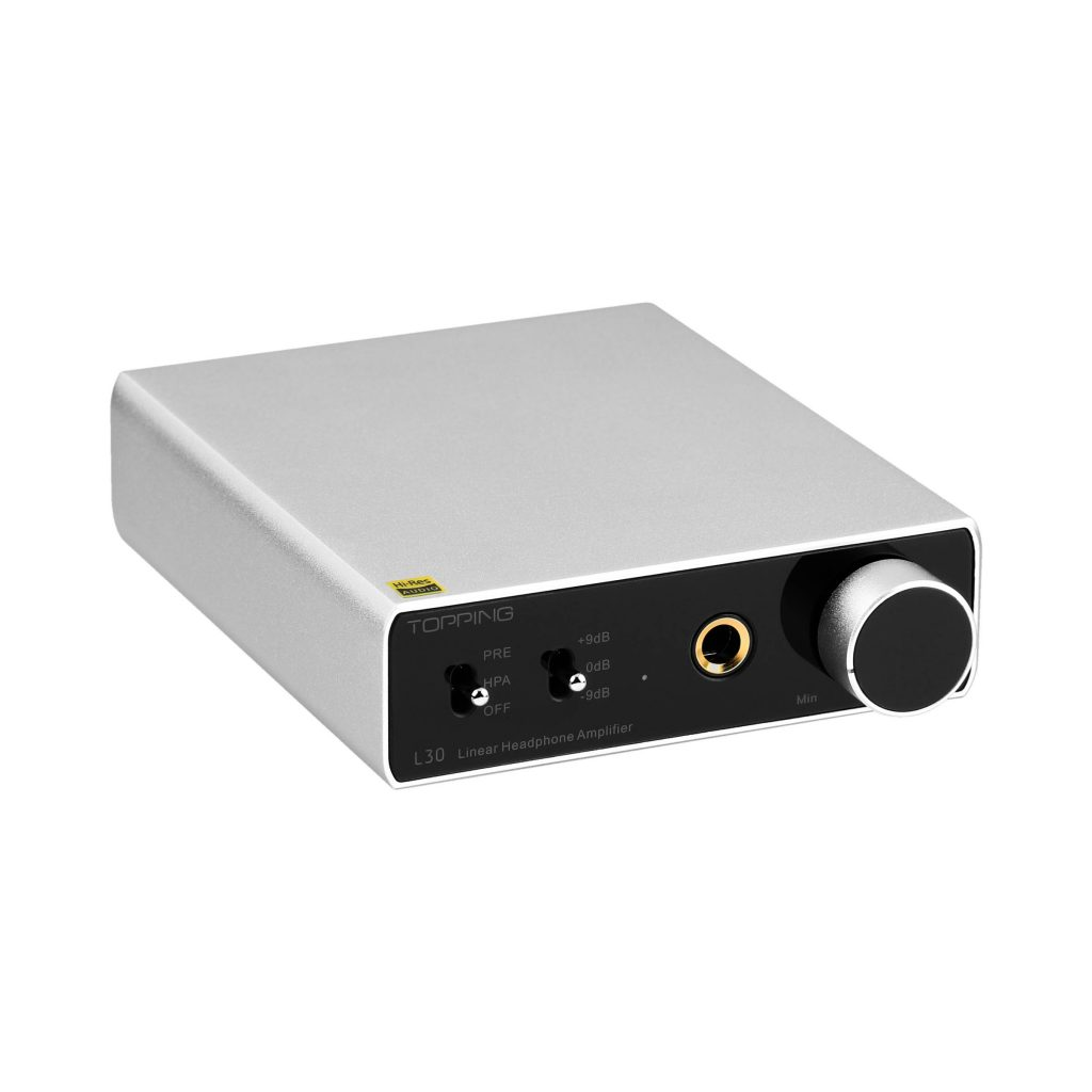 Silver TOPPING L30 amp white background